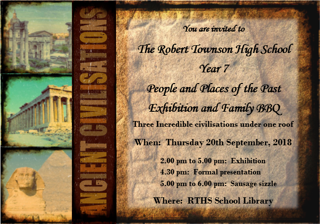Ancient Civilisations Exhibition - Robert Townson High School